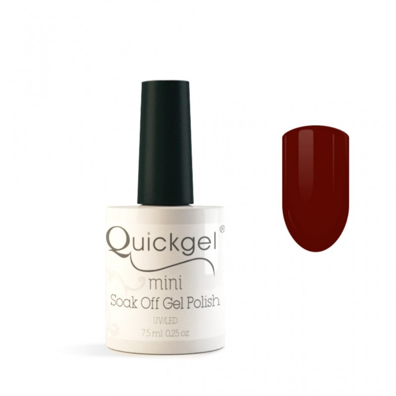 Quickgel No 186 - Deep Red Mini - Βερνίκι 7,5 ml