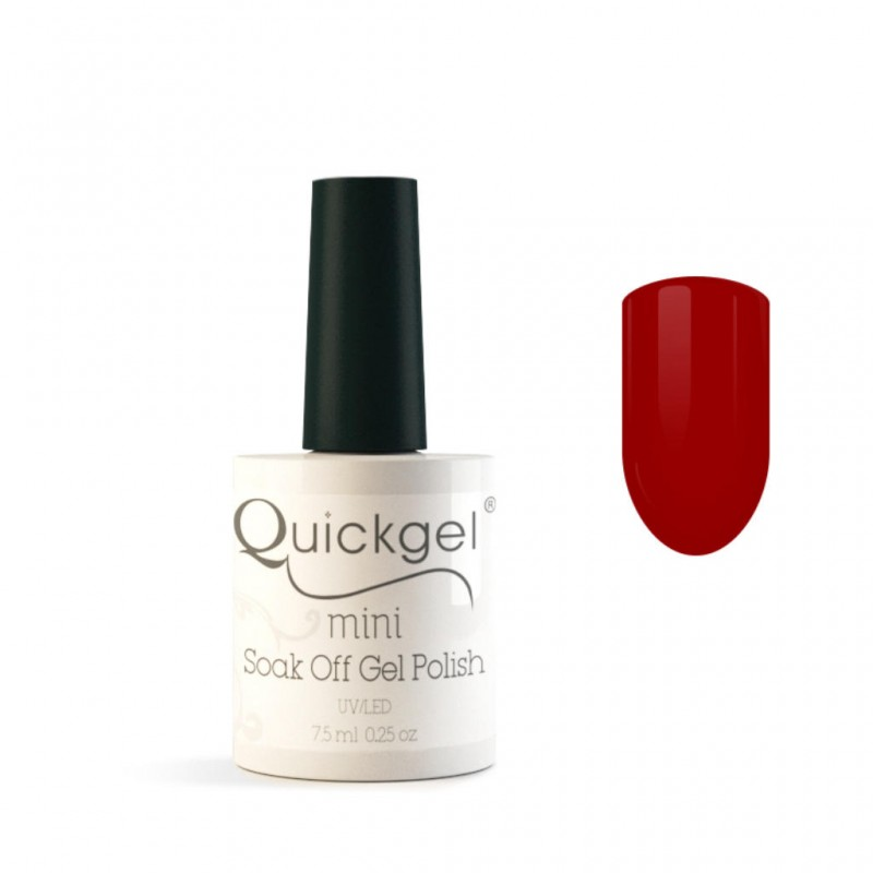 Quickgel No 201 - Red Roulette Mini - Βερνίκι 7,5 ml
