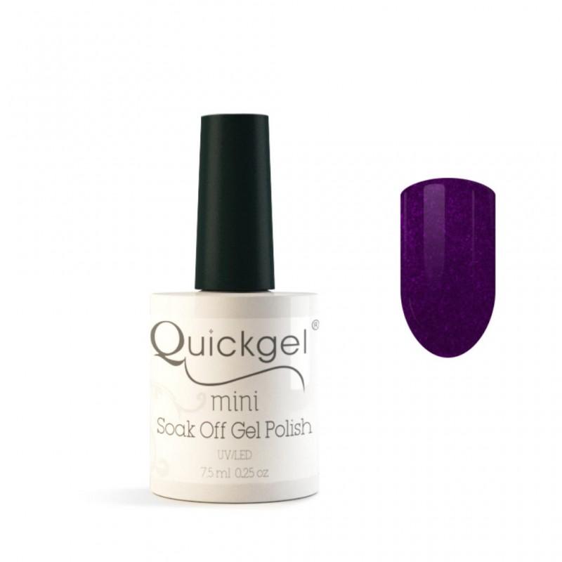 Quickgel No 96G - Metallic Purple Mini Βερνίκι νυχιών 7,5 ml