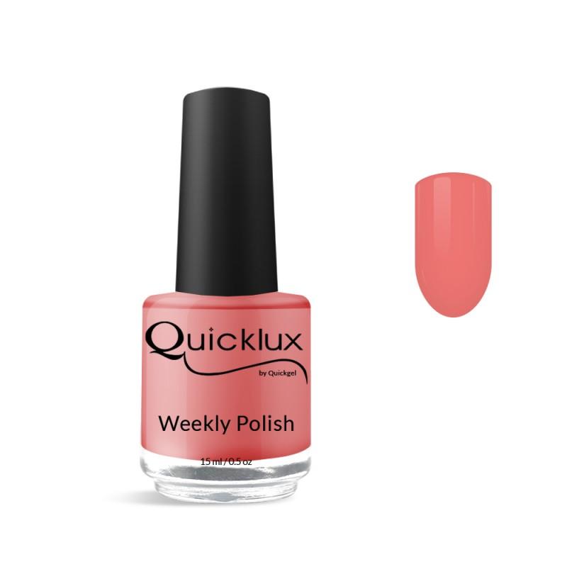 Quickgel No 255 - Coral Βερνίκι 15 ml - Weekly polish