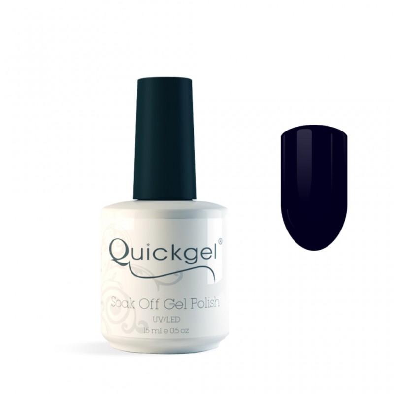Quickgel No 220 - Blue Black- Ημιμόνιμο Βερνίκι 15 ml